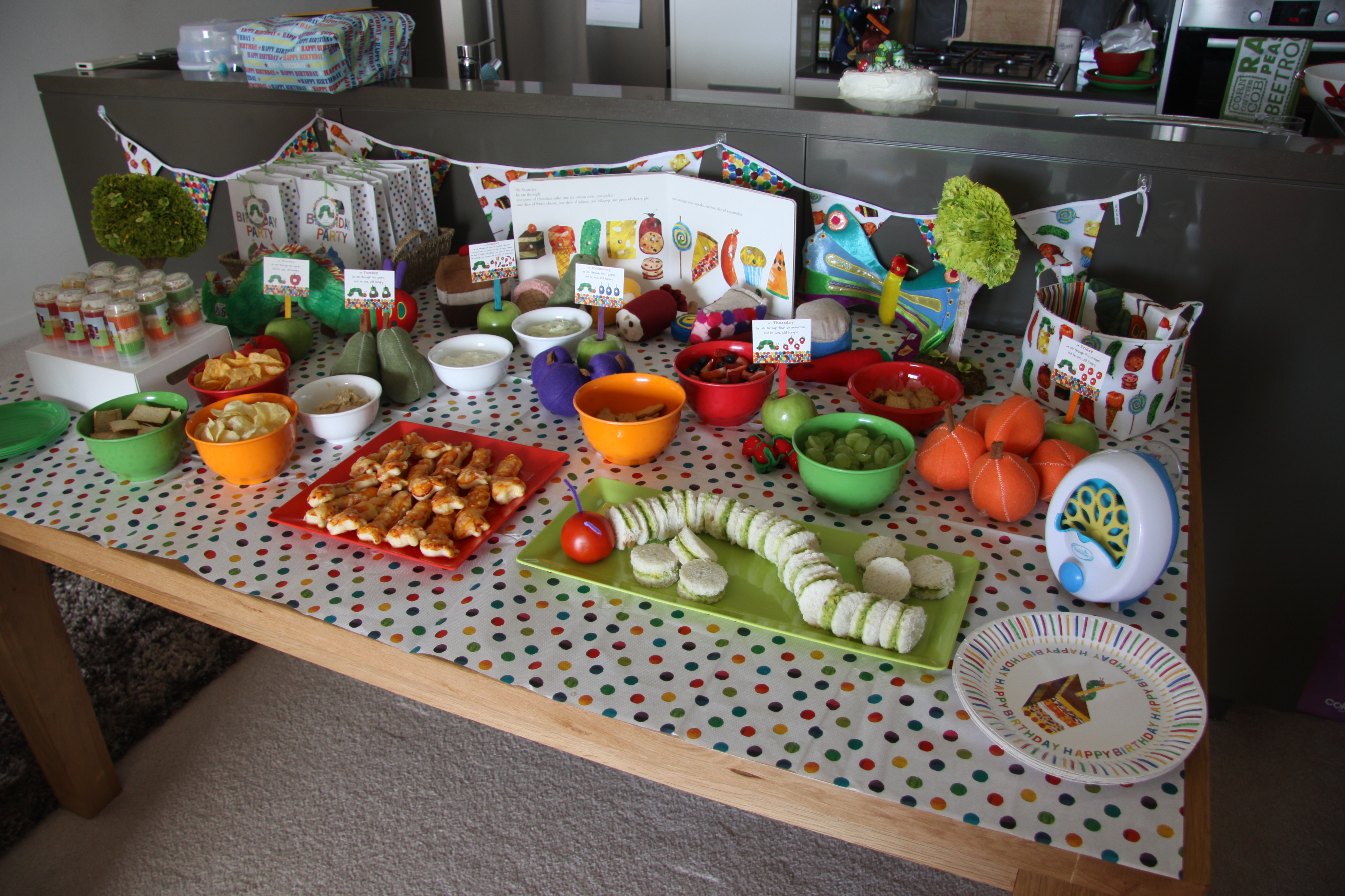 Sebastian\'s Very Hungry Caterpillar 1st Birthday Party… | Project Mum