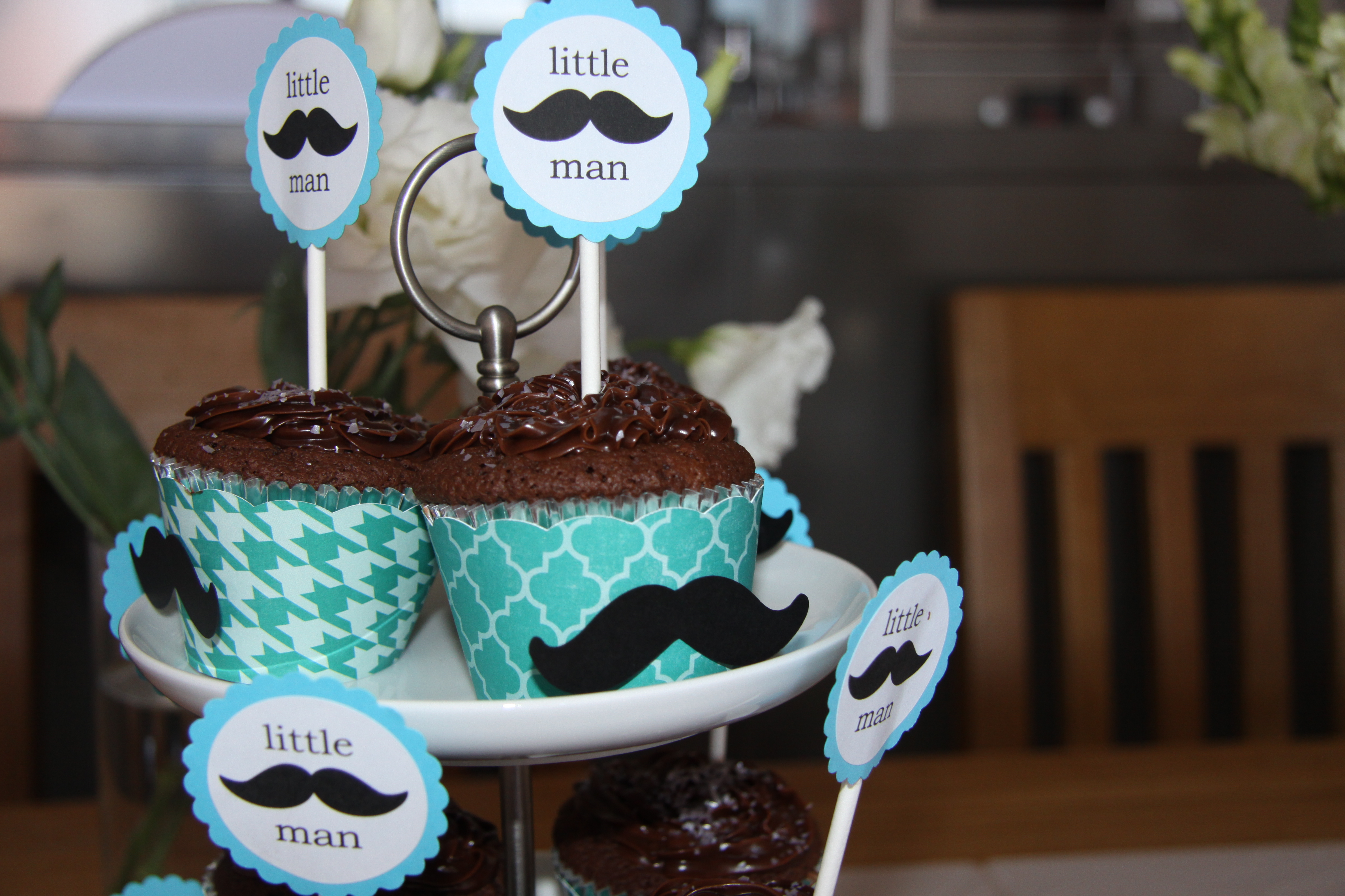 My Little Man Moustache Baby Shower…