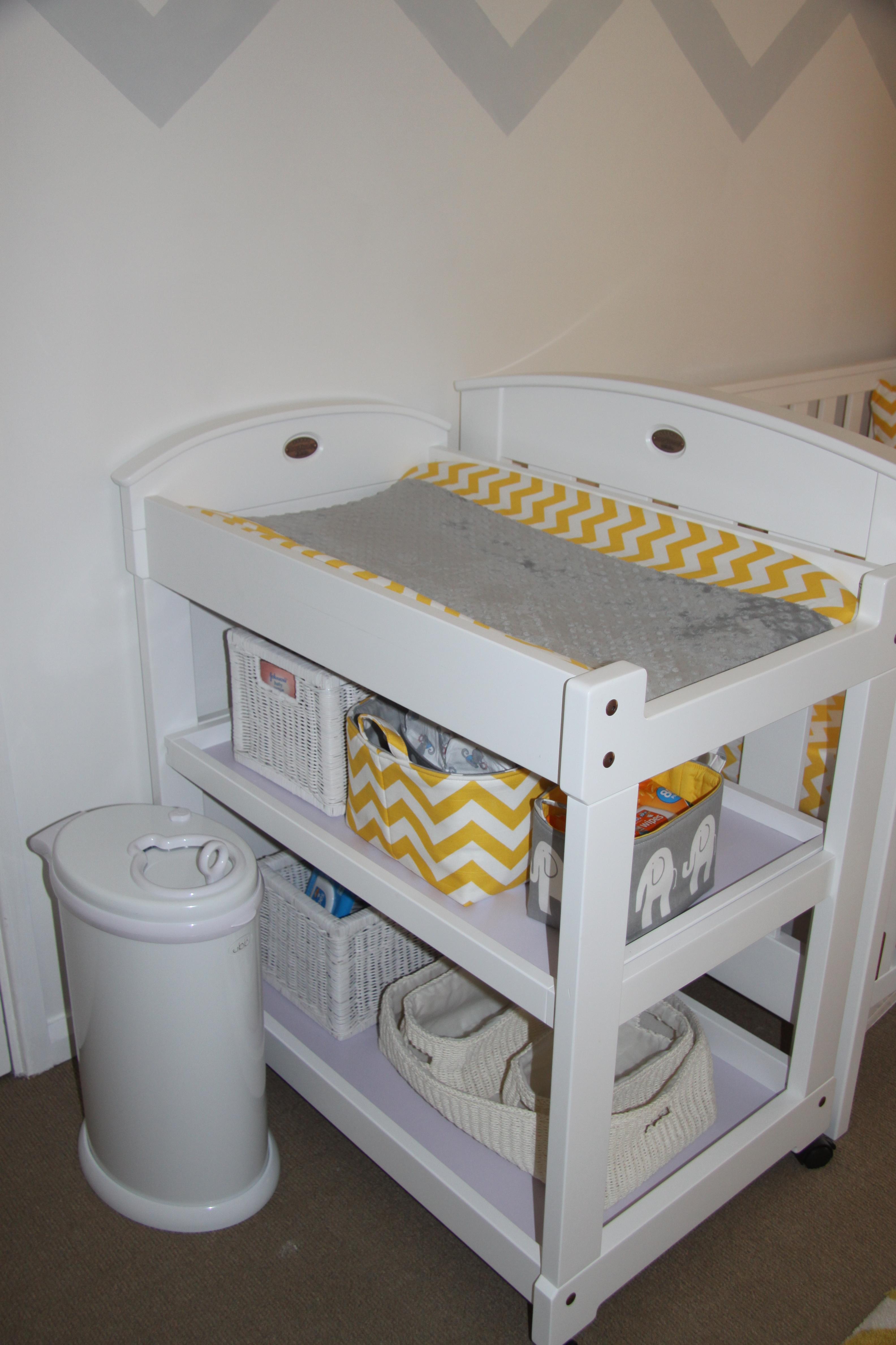 Project Nursery Part 2 Oscar S Yellow And Grey Chevron